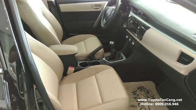 Nội thất Corolla Altis tiện dụng trong bố trí và tích hợp những tính năng tối ưu