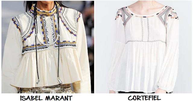 clones 2016 blusa Isabel Marant Cortefiel