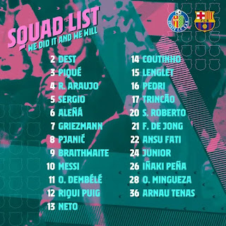 Pjanic returns after injury scare as Barcelona confirms 23-man squad for Getafe game