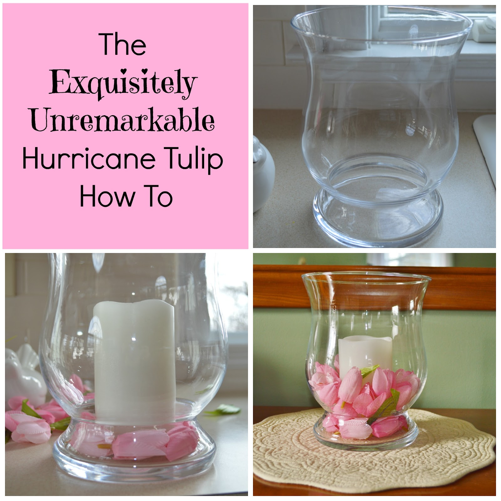 Floral Hurricane Candle Decor