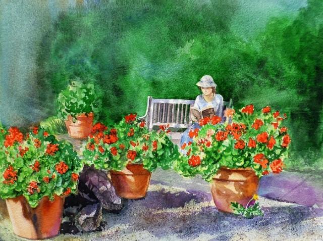 Цветы и цветочные натюрморты акварелью. Irina Sztukowski 19