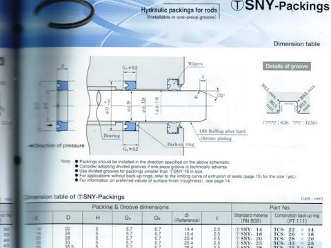 Sakagami SNY Seal - Rod Seal cylinder hydraulic