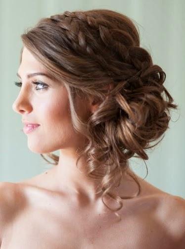 peinados semirecogidos para fiestas de noche Elainacortez