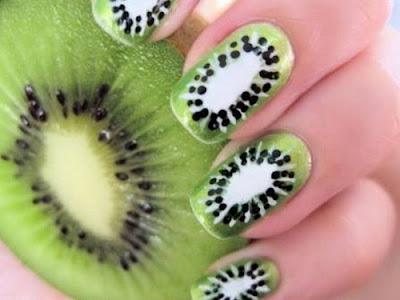 Decoración y diseño de uñas estilo Kiwi