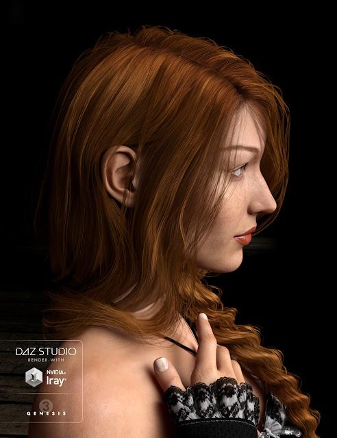 Careless Braid for Genesis 3 Female