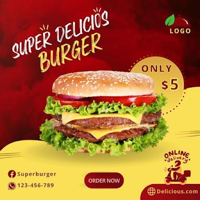 Tutorial 13 - Design Fast Food social media post in Canva