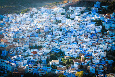 Kota Chefchaouen di Maroko