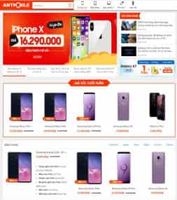 Template blogspot bán hàng điện thoại máy tính