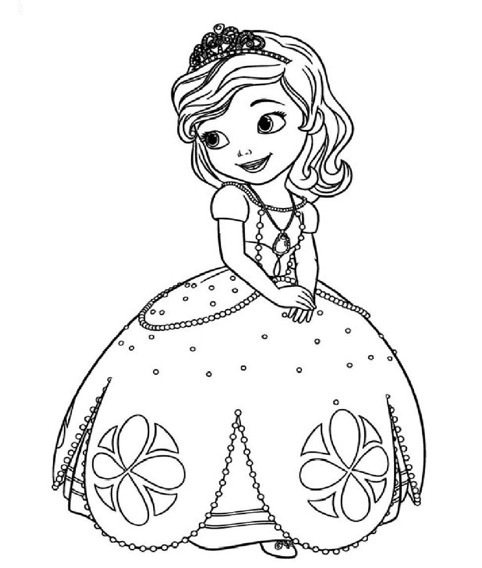 Yeni çocuk Boyamaları En Güzel Prenses Sofia Boyamaları