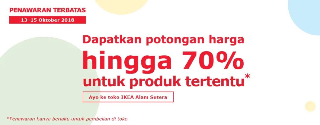 Ikea - Promo Ultah Ke-4 Ada Potongan s.d 70% Produk Tertentu (s.d 15 Okt 2018)