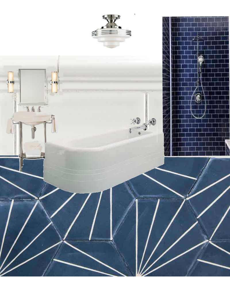 Bathroom Design: Encaustic Tiles Have Real Art Deco Appeal