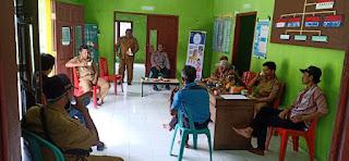 Jaga Kamtibmas, Kapolsek Baraka Polres Enrekang Sambangi Kantor Kelurahan