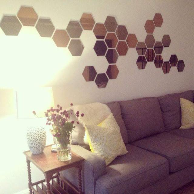 Cara Susun Cermin Viral Honefoss Berbentuk Hexagon Di Dinding Rumah