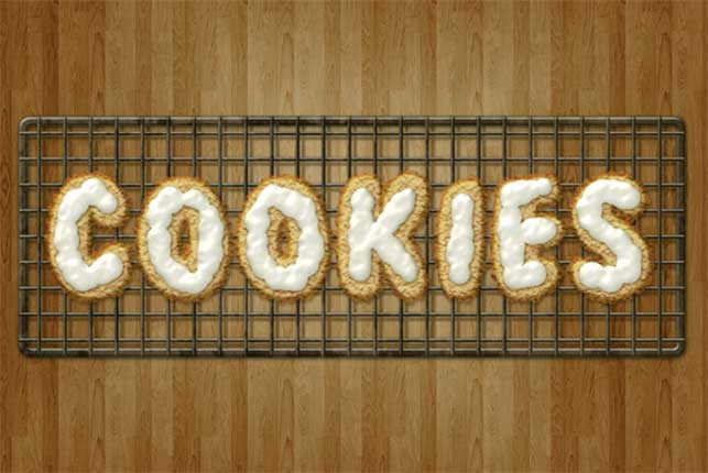 Create Delicious Cookie Text Using Photoshop @ Webdesignerpad