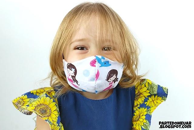 Máscara bico pato infantil