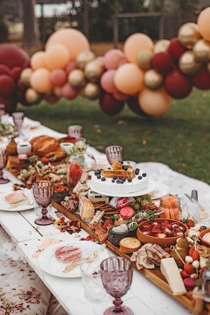 Autumn wedding grazing table