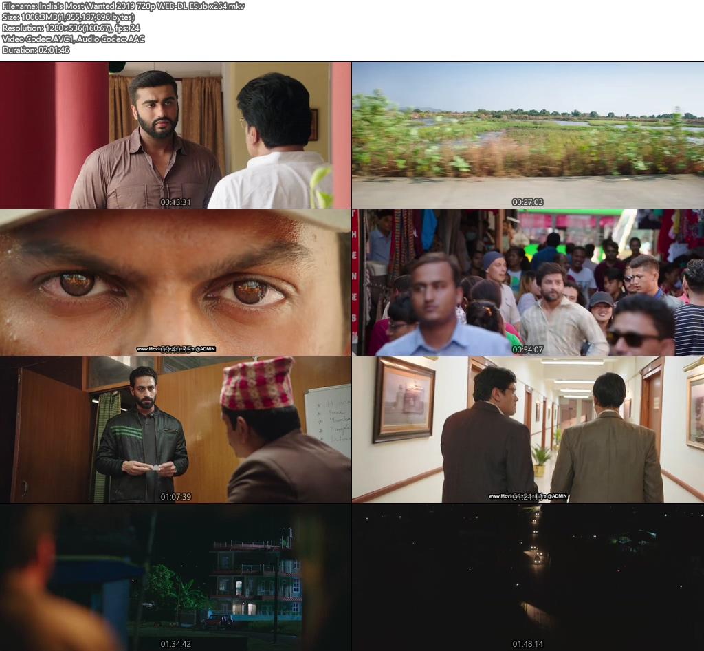India's Most Wanted 2019 720p WEB-DL ESub x264 | 480p 300MB | 100MB HEVC Screenshot