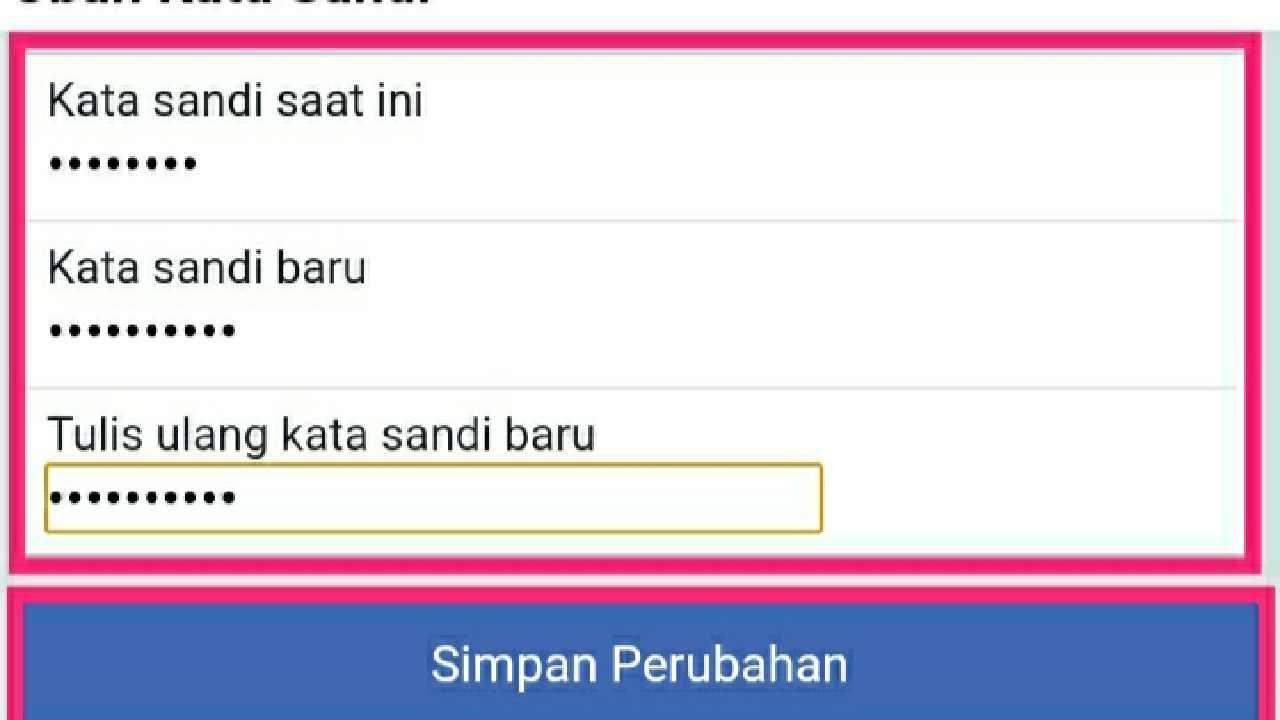 Mencari kata sandi Facebook