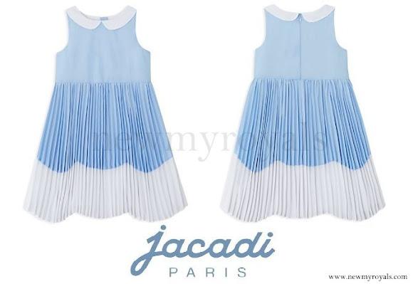 Princess Leonore wore Jacadi Scalloped Color Block Dress