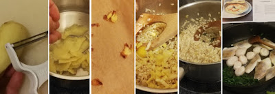 Zubereitung Ingwer-Risotto mit Zander und Jakobsmuscheln