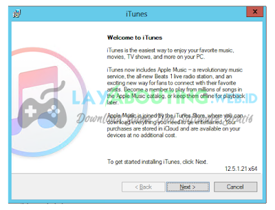 iTunes 12.5.4 Untuk Windows Download Gratis