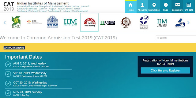 CAT 2019 Notification for Admissions to IIMs | Exam Date, Registration, Syllabus - Bivash Blogs
