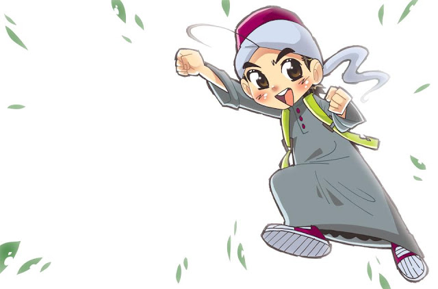 Wallpaper Cartoon Islamic Girl Stori Morie Kongsi Ilmu