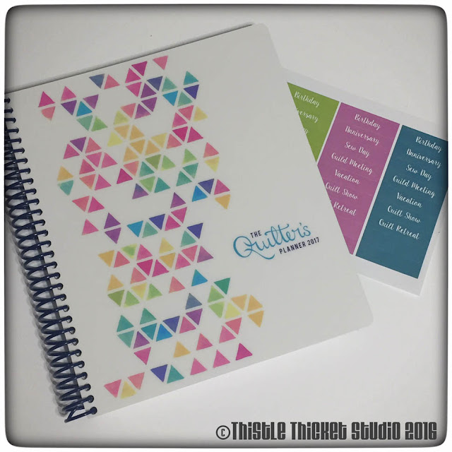 Thistle Thicket Studio, The Quilter's Planner, Spinners Block Pattern, quilt planner