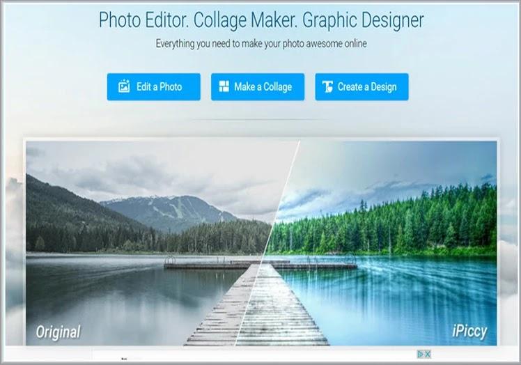 Δωρεάν Online κολάζ και επεξεργασία  φωτογραφίας  με το  iPiccy