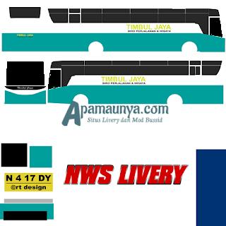 Livery bus titanium trisakti timbul jaya