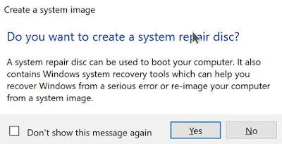 Cara Bikin Cadangan System Image Backup Windows 10