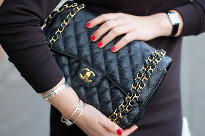 CHANEL caviar Jumbo gold hardware