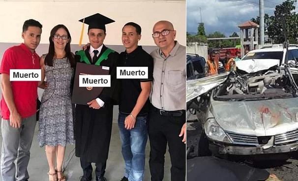 Tres hermanos pierden vida en accidente en Santiago