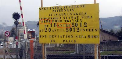 SNCF, travaux en Auvergne