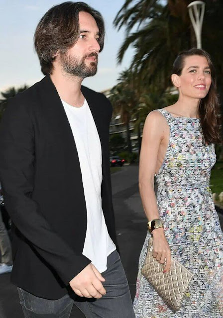 Charlotte Casiraghi wore a new cotton and mixed fibres maxi dress from Pre-SS21 Collection of Chanel