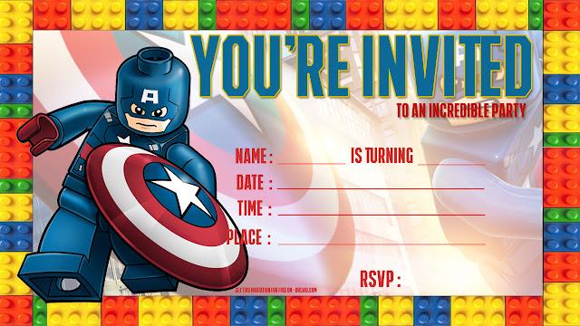 This is a graphic of Printable Lego Invitations regarding transparent