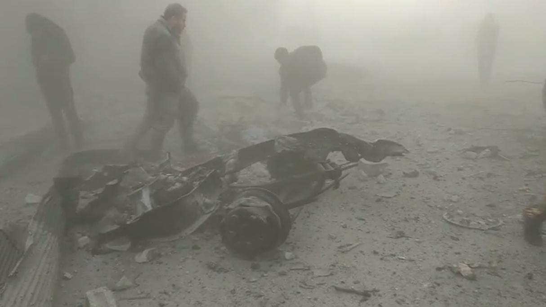 عاجل : بالفيديو انفجار سيارة مفخخة في مدينة عفرين قرب السوق الهال بالقرب من المنطقة الصناعية
