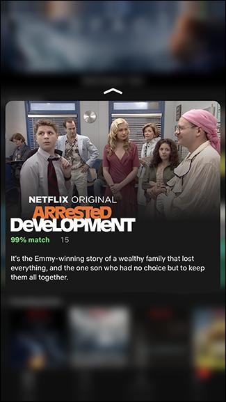 Avere un breve riassunto di un film o spettacolo su Netflix