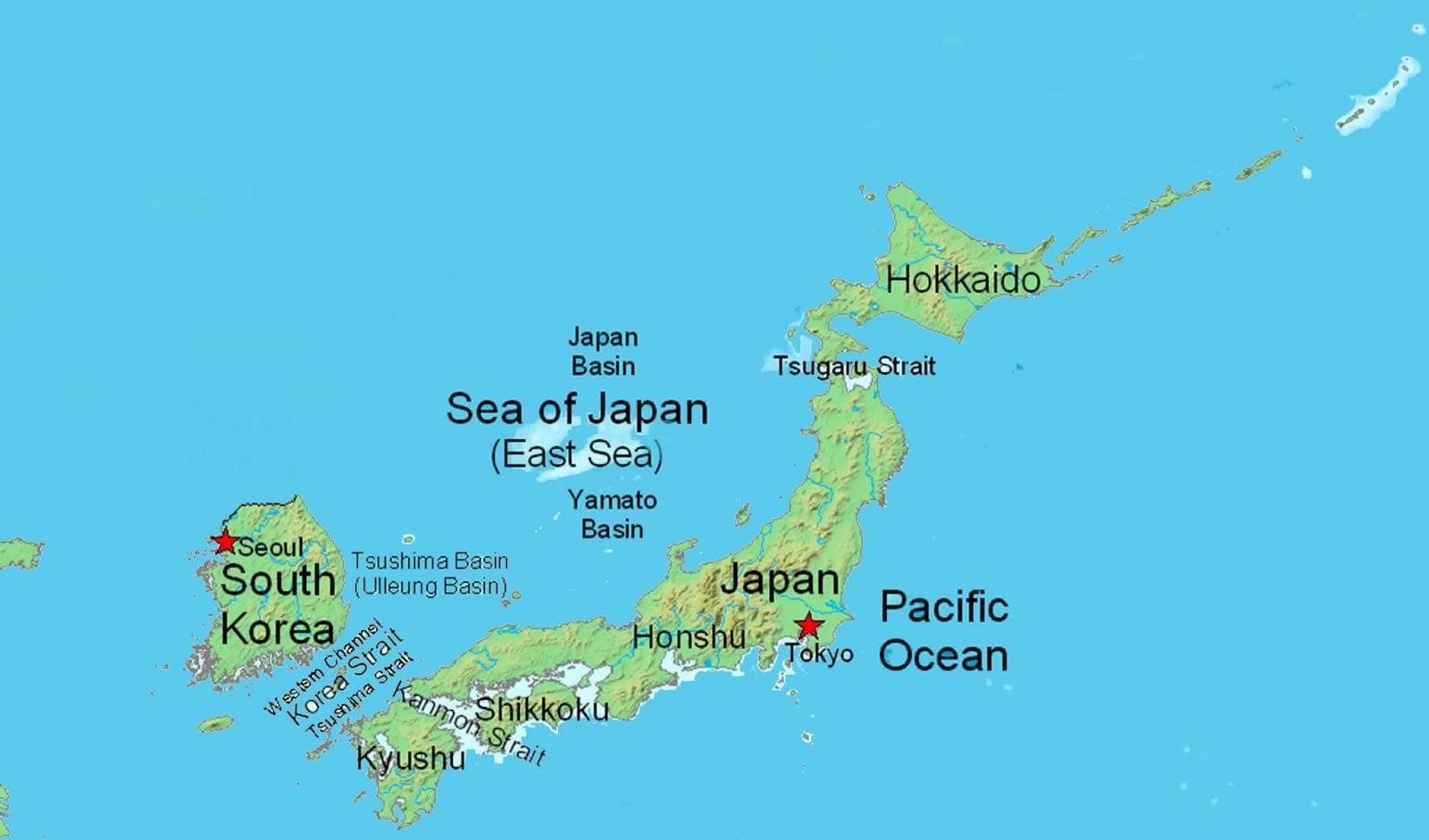 Il Giappone Cartina Fisica.Ripasso Facile Geografia Del Giappone In Breve
