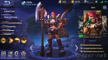 Hilda - Flower of the Wastes Skin Mobile Legens Season 5