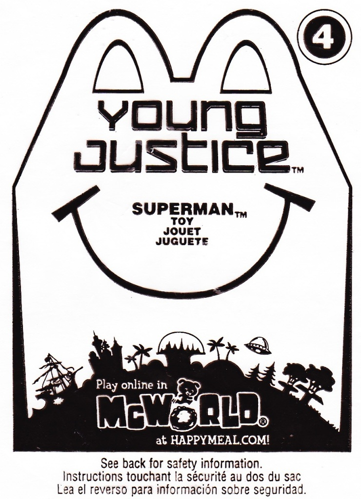 Toys And Stuff Mcdonalds 2011 Young Justice 4 Superman