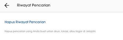 Hapus riwayat pencarian instagram lewat menu setting 2