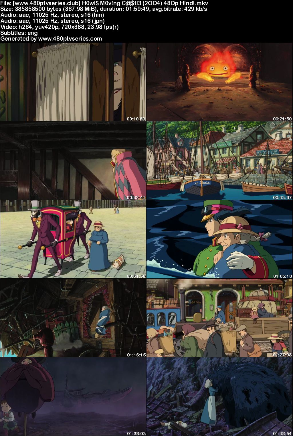 Howl's Moving Castle (2004) 350MB Full Hindi Dual Audio Movie Download 480p Bluray Free Watch Online Full Movie Download Worldfree4u 9xmovies