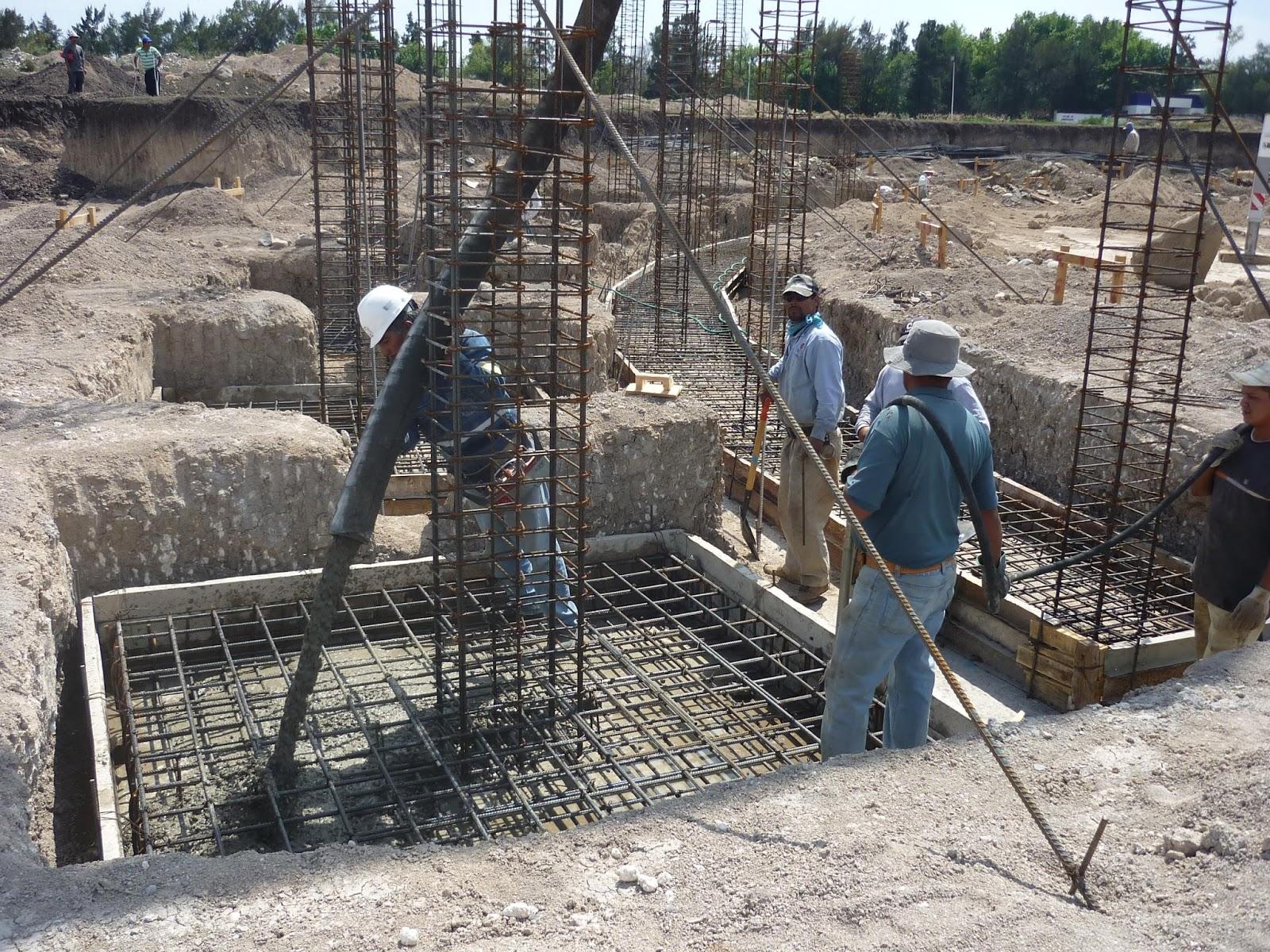 Construcción de zapatas aisladas