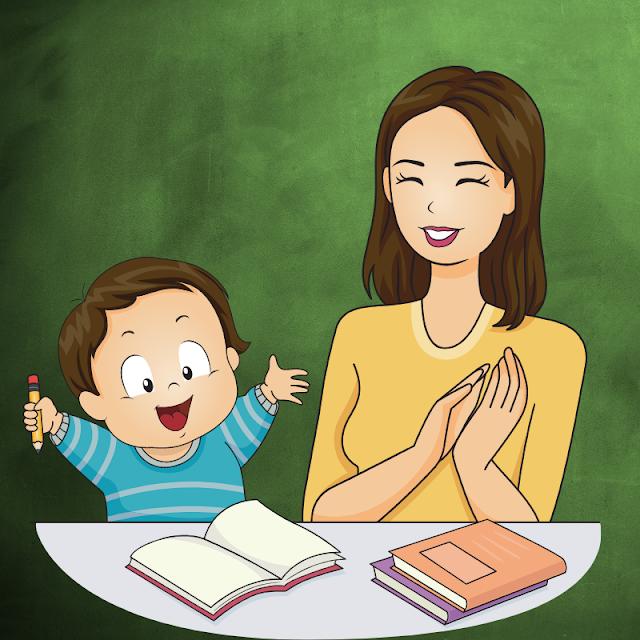 Gambar Kartun Anak Belajar di Rumah (11)