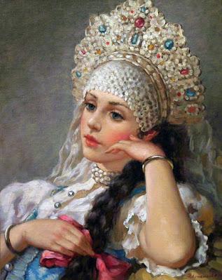 Русские красавицы художника Владислава Нагорнова.