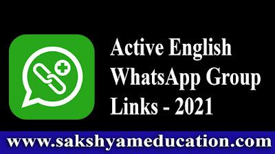 Active English WhatsApp Group Links