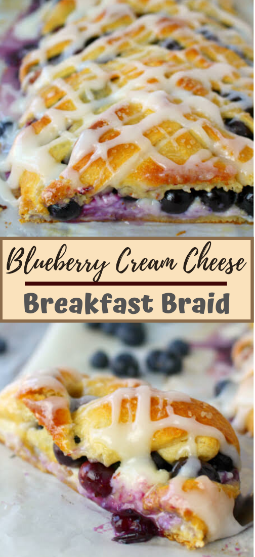 Blueberry Cream Cheese Breakfast Braid #healthyfood #dietketo #breakfast #food