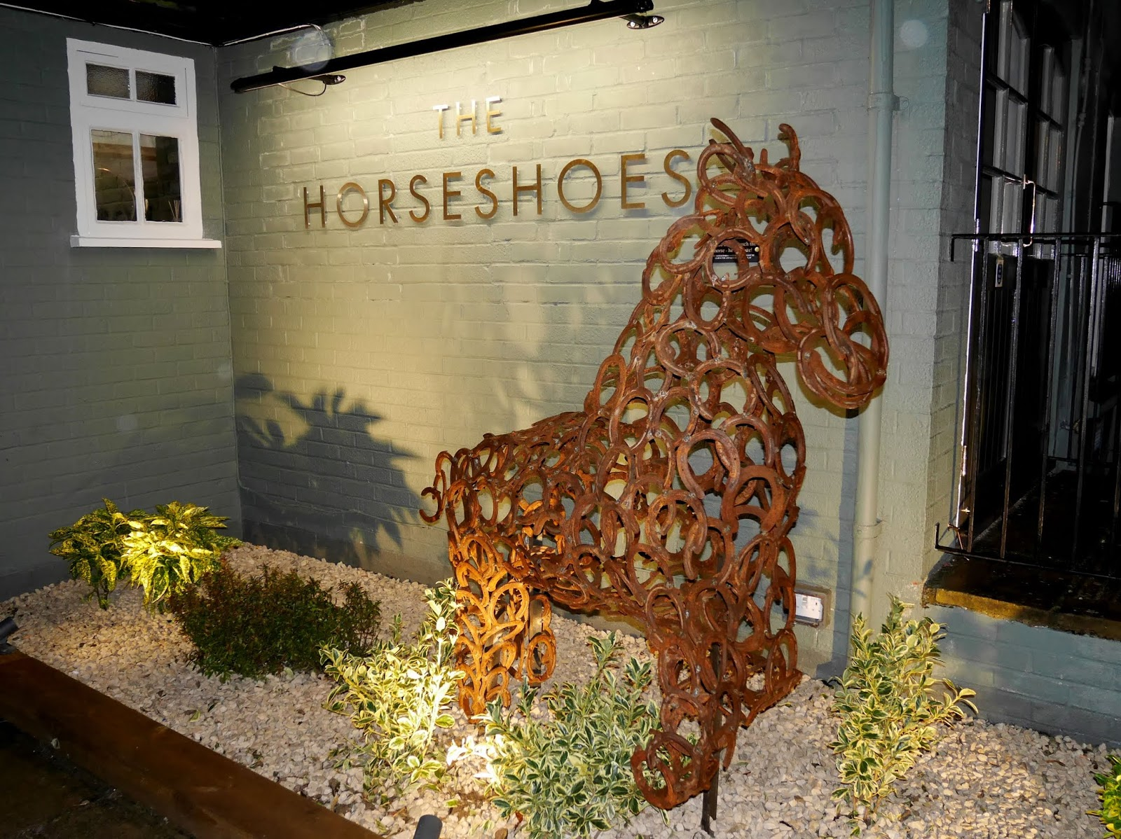 The Horseshoes pub and restaurant in East Farleigh, Kent