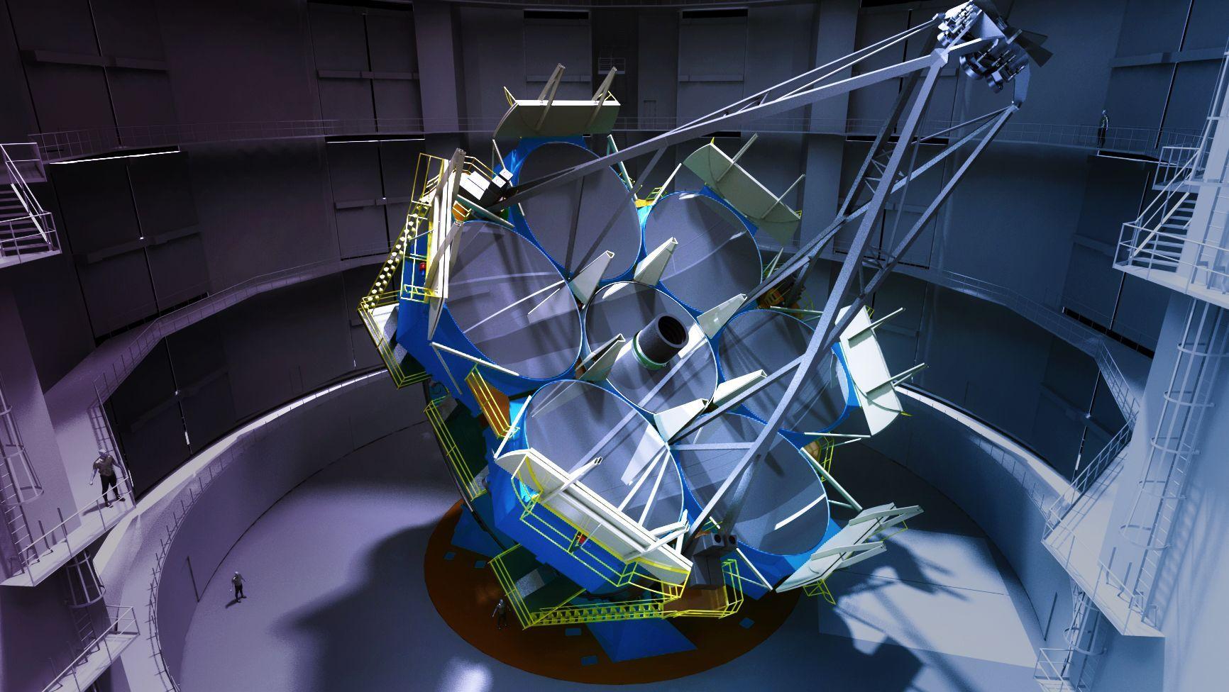 Sixth mirror cast for giant Magellan Telescope